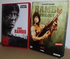DVD John Rambo (1-4) - Sylvester Stallone - FSK 18 - Remastered - UNCUT! Selten!