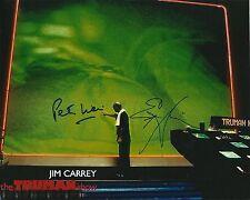 Ed Harris & Peter Weir signed Jim Carrey' Truman Show 8x10 photo @ Exact proof