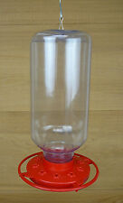 Large Capacity 80 oz Hummingbird Feeder Easy Clean Red Base 10 Feeding Ports