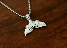 Hawaiian 925 Sterling Silver Hawaii WHALE TAIL WITH LEI Pendant Necklace SP31401