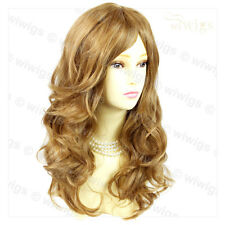 Wonderful Wavy Long Golden Blonde Mix Curly Ladies Wigs Hair From WIWIGS UK