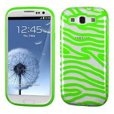 For Samsung Galaxy S III S3 TPU CANDY Gel Flexi Skin Case Phone Clear Zebra