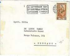 AUTOMOBILE - SPECIAL POSTMARK on COVER - ITALY 1951