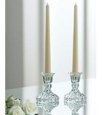 "Galway Crystal Ashford 4"" Candlesticks Pair. Boxed. RRP £25 / $41"