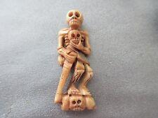 Camel Bones Carved Skeleton Bead 1pc