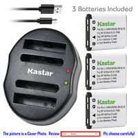 Kastar Battery Dual Charger for Casio NP-80 NP-82 BC-80L & Casio Exilim EX-S5