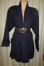 VINTAGE  90'S ~ KATIES ~ Navy Angora Blend JACKET * Size M/L *