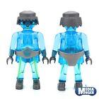 PLAYMOBIL FIGURA auserirdischer ALIEN fantasma Azul Transparente Cristal Raro
