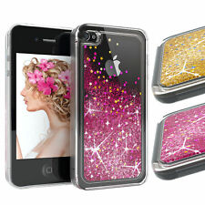 EAZY CASE Apple iPhone 4 iPhone 4s Glitzerhülle Flüssig Silikon Hülle Handyhülle
