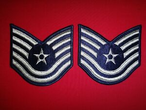 Pair Of USAF Air Force TECHNICAL SERGEANT Large Chevrons