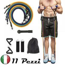 ✅ Set 11 pz Fasce Elastiche Bande Resistenza Elastici Palestra Fitness Crossfit
