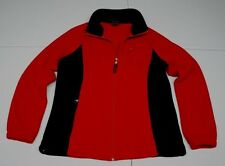 Tommy Hilfiger Womens S Red Polyester Fleece Jacket