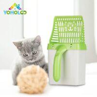 Pelle à litière pour chat Ramasse Crotte Caca avec Sacs poubelle Intégré trappe