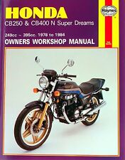 0540 Haynes Honda CB250 & CB400N Super Dreams (1978 - 1984) Workshop Manual