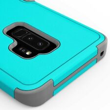 SAMSUNG GALAXY S9 PLUS G965 TEAL GREY DUAL LAYER TUFF CASE IMPACT RUBBER COVER