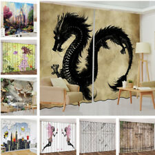 Abstract Style 3D Curtain Blockout Drapes Fabric Photo Printing Window Decor