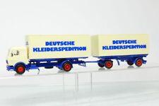 Herpa MB Mercedes Roadtrain German Kleiderspedition Truck Hz 1:87/H0