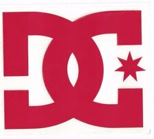 DC SHOES XL RED DECAL DC Shoes Vinyl 8.5 in x 7.25 in Red Skate Snow Sticker