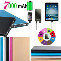 Portable Universal 7000mAh USB External Battery Power Bank Pack Charger Phone