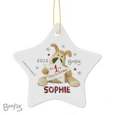 Boofle My 1st Christmas Ceramic Star Decoration