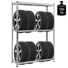 Porte pneu Étagère pneu rangement pour pneu Étagère d'atelier robuste 180x120x40