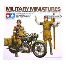 Tamiya British BSA M20 Motorcycle w/ Military Police Set (Scale 1:35) 35316 NEW