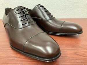Salvatore Ferragamo Luce Leather Cap Toe Dress Shoes US 10.5 3E Wide Made Italy