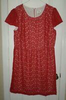 ICE Red Eyelet Cap Sleeve Dress Size 18W