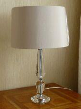 LEAD CRYSTAL MODERN TABLE LAMP NEUTRAL SHADE ENDON ASTORIA