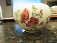 Zsolnay Vintage Hand Painted Porcelain Floral  Vase Laced with 24K Gold