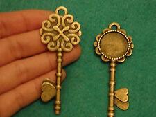 6 GRANDE CHIAVE CIONDOLI bronzo antico CREAZIONE GIOIELLI Vendita all'ingrosso