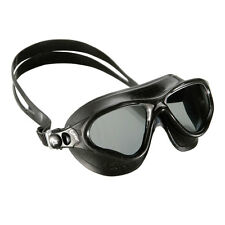 Cressi Cobra Mask UV Protective Silicone Swimming Goggles Black w/ Tinted Lens
