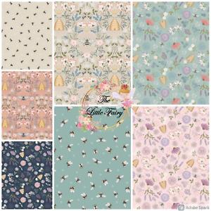 Lewis & Irene Queen Bee Cotton Fabric FQ, Half Meter, Meter or Special Bundle