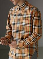 BURBERRY **CHRISTOPHER BAILEY'S FINAL BURBERRY COLLECTION** CHECKED COTTON SHIRT