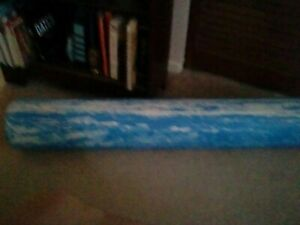 """OPTP SOFT PRO ROLLER Foam Roller For Stretching, Yoga, Pilates - Blue Round 36"""""""