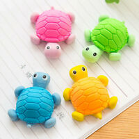 EG_ LX_ 6Pcs Cartoon Tortoise Rubber Eraser School Office Stationary Supply Toy