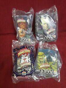 Complete set 4 sealed rare UNIVERSAL STUDIOS MONSTERS Burger King toy kid club