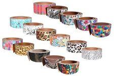 Design Lederriemen Rindsleder, Gürtelriemen, verschiedene Muster und Breiten
