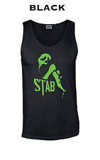 351 Stab Mask Tank Top college knife 90 slasher funny movie scary halloween cool