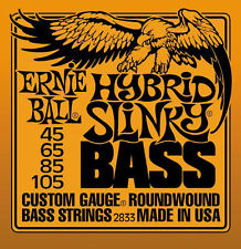 *4-STRING* BASS GUITAR STRINGS 2833 ERNIE BALL HYBRID SLINKY ROUNDWOUND 45-105