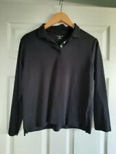 Lands End S/P 6-8 Long Sleeve Black Cotton Collared Shirt