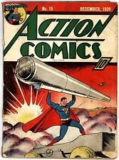 ACTION COMICS #19 - G+ 2.5 - 7th Superman cover Dec 1939