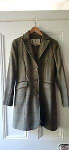 Genuine Barbour Wool Tweed coat Green Size 10
