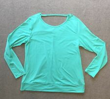 IMPACT Jillian Michaels Womens Seafoam Green Stretch Yoga Workout Top Sz XXL