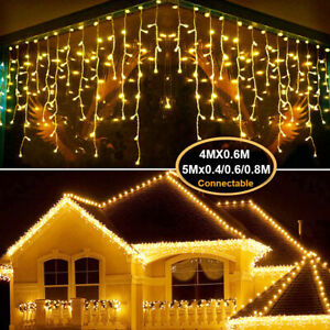 3/4/5M LED String Light LED Curtain Icicle Fairy Lights Christmas Wedding Party