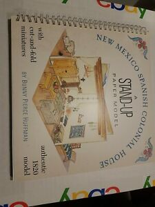 1991 Stand-Up Paper Model *NEW MEXICO SPANISH COLONIAL HOUSE* Unused* FREE SHIP*