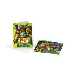 TMNT Teenage Mutant Ninja Turtles 8 Invitations & 8 Thank You Postcards Birthday