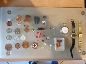 DDR Abzeichen, Uhren ,Glashütte