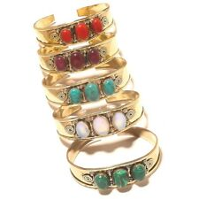 Charming Cuff Bangel Lot Gemstone Handmade Tibetan Silver Brass Jewellery