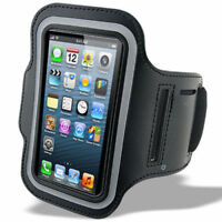 Running Arm Band Leather Case Bag For iphone Mobile Phone Holder Pouch Belt GYM